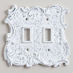 """White Cast Iron Double Switch Plate :: $9.99 