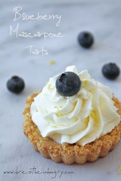 Low Carb and Gluten Free Blueberry & Mascarpone Tarts with a Lemon Shortbread Crust.  Pretty enough for special occasions, easy enough to make anytime!