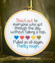 Join the Spruce Craft Co. Stitch Up Club to get a free funny pattern like this every month. Check out www.sprucecraftco.com for our range of modern cross stitch patterns and kits!