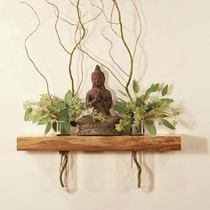 My work surrounds me with beautiful things but sometimes the most beautiful part of my day is in meditation. How do you incorporate beauty into your day?  Floating shelf by Petrichor Wood Design on Etsy.com