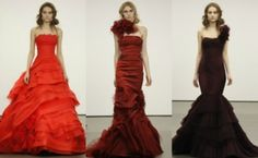 Vera Wang Spring 2013 Bridal Fashion red wedding dresses