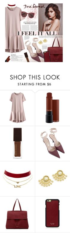 """I Feel it All"" by ellergy ❤ liked on Polyvore featuring Bajo, MAC Cosmetics, Kevyn Aucoin, Sergio Rossi, Charlotte Russe, Mansur Gavriel, Vianel and Salvatore Ferragamo"