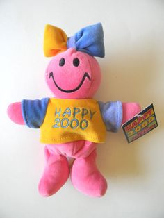HAPPY 2000 LET'S CELEBRATE PLUSH  STUFFED TOY COLLECTOR'S CHOICE BEAN BAG FRIEND #BeanBagFriends