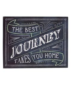 Look at this 'The Best Journey' Wall Sign on #zulily today!