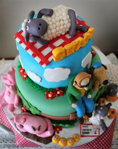 Delana's Cakes: Shaun the Sheep and friends Cake
