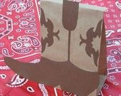 Cowboy Boot Birthday Party Treat Sacks BOOTS Western Farm Theme Goody Bags by jettabees on Etsy