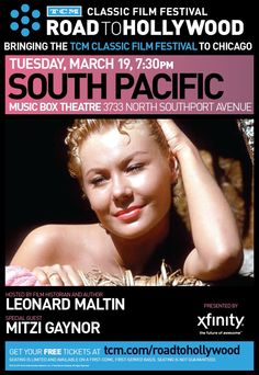 Win classic movie passes to South Pacific at Chicagos famous Music Box Theatre with star Mitzi Gaynor in person courtesy of HollywoodChicago.com! Win here: http://ptab.it/CPlC