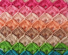 Crochet Box Stitch Tutorial - (mypicot)