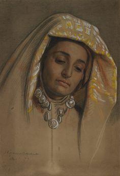 Pre Raphaelite Art: February 2011 William Holman Hunt - Study of Nimji for 'The Triumph of the Innocents'