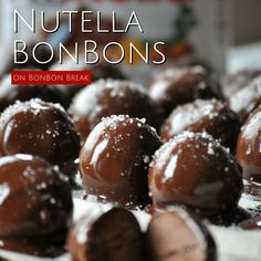 dark chocolate Nutella Bonbons are the perfect treat fo These melt-in-your-mouth dark chocolate Nutella Bonbons are the perfect treat fo. -These melt-in-your-mouth dark chocolate Nutella Bonbons are the perfect treat fo. Candy Recipes, Sweet Recipes, Dessert Recipes, Dessert Recipe Video, Dishes Recipes, Recipies, Great Desserts, Delicious Desserts, Yummy Food
