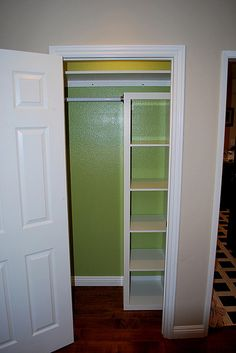 Great inspiration for the closet in the nursery and possibly the coat closet in the foyer!  Link to that shelving (called Expedite at Ikea for $59.99): http://www.ikea.com/us/en/catalog/products/70116276/