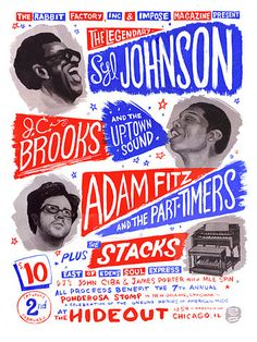 GigPosters.com - Syl Johnson - J.c. Brooks And The Uptown Sound - Adam Fitz And The Part Timers - Stacks, The
