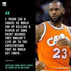 Coach Fizdale on LeBron James as a coach.