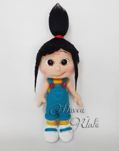 [Nuevo]Havva Ünlü - Agnes Amigurumi - Spanish - Translated-Knitting and Crochet Communication-Crochet Patterns-PinDIY - Cute Crochet, Crochet For Kids, Crochet Crafts, Crochet Baby, Crochet Projects, Crochet Doll Dress, Crochet Doll Clothes, Crochet Doll Pattern, Minion Crochet Patterns