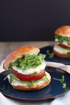 Grilled Vegetable Sandwich with Roasted Hatch Chile Peppers - dang that's delicious