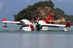 """zainisaari: """"Bombardier 415MPTwo Bombardier 415 multipurpose amphibious aircraft (Bombardier 415MP) is in service with the Malaysian Maritime Enforcement Agency (MMEA). The aircrafts are modified with..."""