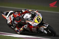 2012 Moto GP Round 1 in Qatar. Picture features #6 Stefan Bradl on the LCR Honda.  For more information visit http://motorcycles.honda.com.au/Honda_Racing/