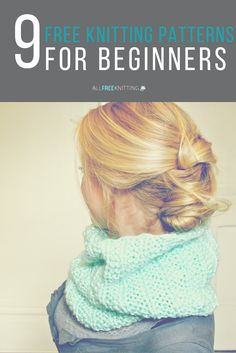 Learning to knit? These patterns are great for beginners.