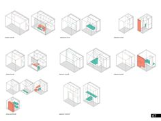 Image 11 of 13 from gallery of Micro Housing Ideas Competition 2013 Winners Announced. Place - SAC – Studio de Arquitectura y Ciudad (Queretaro, Mexico) Architecture Concept Diagram, Architecture Collage, Urban Architecture, Architecture Drawings, Architecture Diagrams, Architecture Portfolio, Sustainable Architecture, Tiny House, Micro House