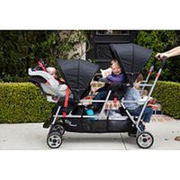 Blue and Black Triple Trio Tandem Baby Jogger Stroller with Rain ...