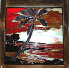 Palm in stained glass