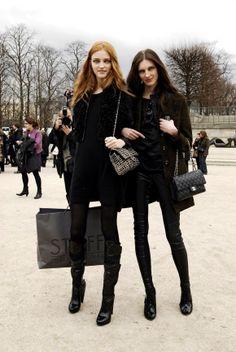 Vlada Roslyakova & Olga Sherer Chanel & Black