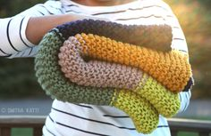 Cozy Colors Garter Stitch Blanket. NOTE: Pattern is not in Ravelry but also found on the SK site.