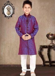 Stunning Pinkish Blue Sherwani Model: YOB132