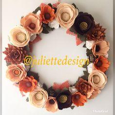 A personal favorite from my Etsy shop https://www.etsy.com/listing/556038632/fall-wreath-flowers-wreath-felt-wreath