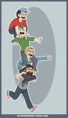 "freakxwannaxbe: The ""cool"" kids hangin' out therealjacksepticeye: this is…"
