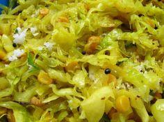 Kobichi Bhaji (Cabbage Veggie with Chana Dal) - Foodlyrics Veg Recipes, Indian Food Recipes, Asian Recipes, Vegetarian Recipes, Cooking Recipes, Healthy Recipes, Ethnic Recipes, Asian Foods, Healthy Foods