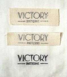 DIY: make your own clothing labels, via a xylene blender marker.