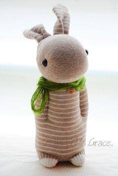 Grace--#218 Sock Domy Rabbit