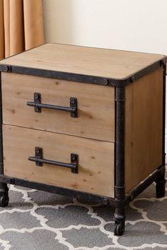 matthew industrial 2drawer nightstand
