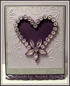 Quilled Heart Card by angiesprouse - Cards and Paper Crafts at Splitcoaststampers