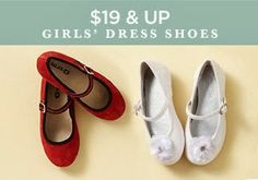 She might love to run around in comfy sneakers, but when it comes to holiday parties, dress shoes is an absolute must. Here, you'll find plenty of stylish and sweet options for your little lady—from classic Mary Janes to embellished ballet flats. You're sure to find a pair (or two) to go with her favorite frock.