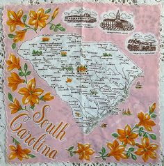 Vintage South Carolina hanky