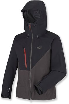 Here's a protective Gore-Tex® shell jacket designed for technical mountaineering and modern alpine ascents. It's lightweight, breathable and flexible for free-flowing movement. Gore Tex Jacket, Nike Jacket, Jackets, Accessories, Fashion, Moda, Fasion, Fashion Illustrations, Fashion Models