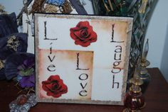 Live Love Laugh 6x6 Ceramic Tile Wall by SapphireCustomPhotos, $15.00