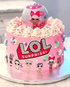 Toddler Birthday Cakes, Doll Birthday Cake, Funny Birthday Cakes, 8th Birthday, Lol Doll Cake, Surprise Cake, Cute Cakes, Yummy Cakes, Lol Dolls