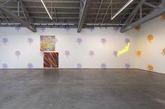 Installation view of 'John Armleder, Stéphane Kropf, John Tremblay, with guests Mai-Thu Perret and Blair Thurman,' March 14–April 25, 2015, David Kordansky Gallery, Los Angeles.  FREDRIK NILSEN/DAVID KORDANSKY GALLERY