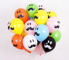 50X Latex Smile Mustache Assorted balloon Decor Birthday wedding Party Supplies #Joyparty #BirthdayChild
