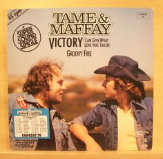 "PETER MAFFAY + JOHNNY TAME - Victory / Groovy Fire - near mint - Vinyl 12"" Maxi"