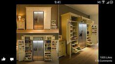 Built in look from fridge. So fancy.