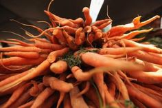 Carrots at a market in New York City