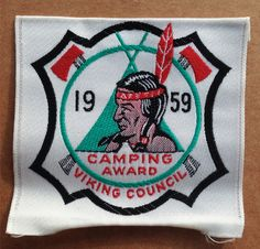 BOY SCOUT 1959 VIKING COUNCIL Minnesota Camping Patch Native Indian