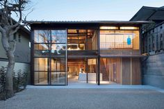 Gallery of Blue Bottle Coffee Kyoto Cafe / Jo Nagasaka / Schemata Architects - 12 Japanese Coffee Shop, Japanese Shop, Japanese House, Japanese Restaurant Design, Cafe Japan, Blue Cafe, Blue Bottle Coffee, Shop Facade, Japan Architecture