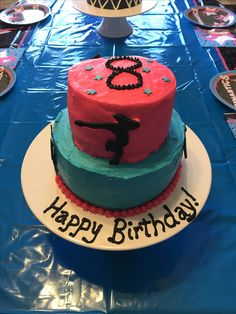 Gymnastics Birthday, Happy Birthday, Birthday Cake, Desserts, Food, Happy Brithday, Tailgate Desserts, Deserts, Urari La Multi Ani
