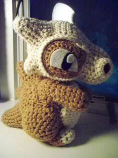 Cubone Amigurumi -- I wonder how hard it'd be to make a knitted version...
