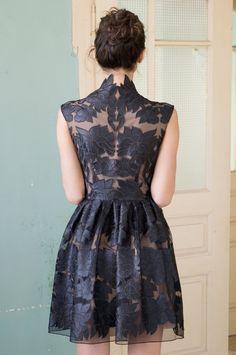 Mini little black lace dress #fashion #black lace #dress #lace dress Mode Chic, Mode Style, Little Black Lace Dress, Looks Party, Estilo Fashion, Mode Inspiration, Mode Outfits, The Dress, Navy Dress